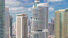 Residential Apartments And Offices In Jumeirah Lake Towers District Timelapse In Dubai