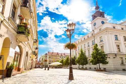 Obraz na płótnie Rynek Starego Miasta i budynek ratusza w mieście Kalisz