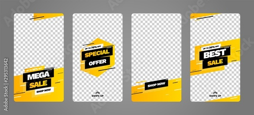 Stories template set for banner sale, presentation, flyer, poster, invitation Fototapet