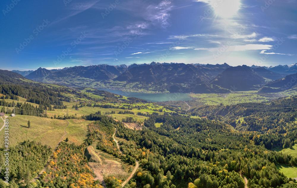 Fototapeta Obwalden Bergpanorama inkl. Sarnersee