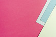 Leinwanddruck Bild - Set of blue and pink paper sheets with copy space
