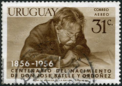 Vászonkép  URUGUAY - 1956: shows Jose Pablo Torcuato Batlle y Ordonez (1856-1929), Presiden