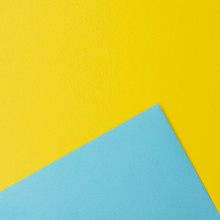 Blue And Yellow Paper Sheets W...