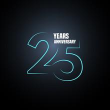 25 Years Anniversary Vector Lo...
