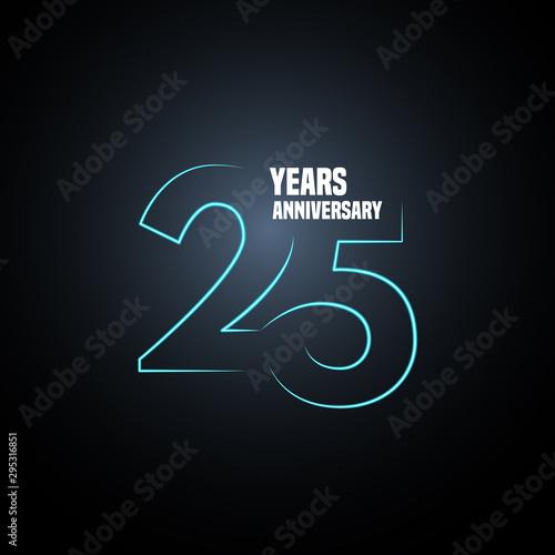 Tela  25 years anniversary vector logo, icon