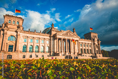 The Reichstag building in Berlin capital Germany Wallpaper Mural