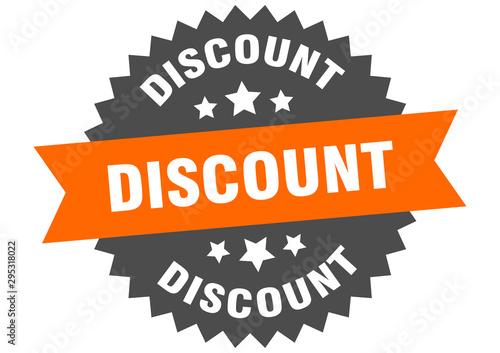 Cuadros en Lienzo  discount sign. discount orange-black circular band label