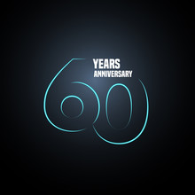 60 Years Anniversary Vector Lo...