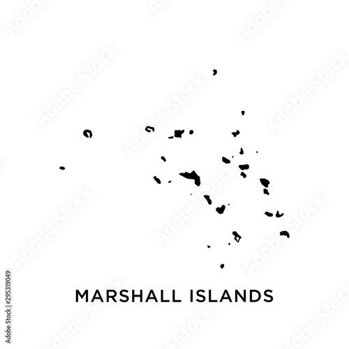 Fotografie, Obraz Marshall Islands map vector design template