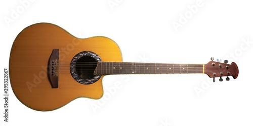 Creative creativity guitar Black or white background - 295322867