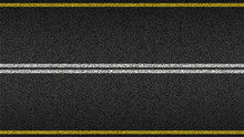 Asphalt Highway Textured Vecto...