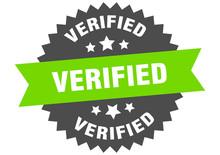 Verified Sign. Verified Green-black Circular Band Label