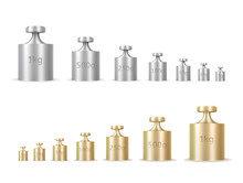 Calibration Weights Realistic Isolated Vector Illustrations Set