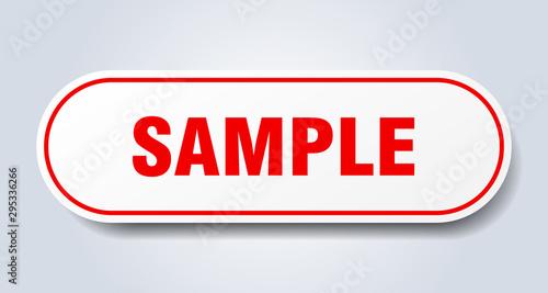 Vászonkép sample sign. sample rounded red sticker. sample