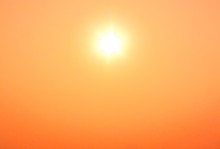 Shiny Hot Sun And Orange Sky Sandstorm Wildfire Background