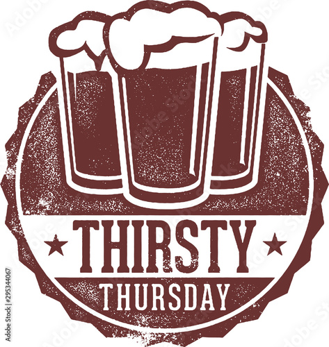 Thirsty Thursday Drink Special Sign Wallpaper Mural