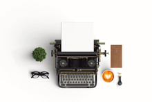 Vintage Typewriter Paper And ...
