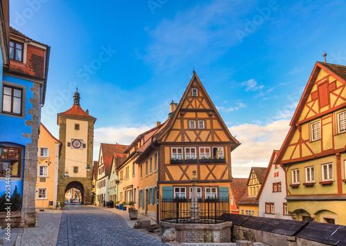 Plonlein Rothenburg ob der Tauber Old Town Bavaria Germany