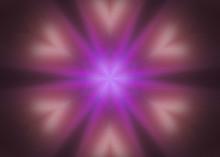 Neon Purple Gas Lights Concentric Mandala Kaleidoscope
