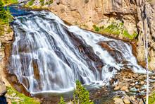 Gibbon Falls In Yellowstone Na...