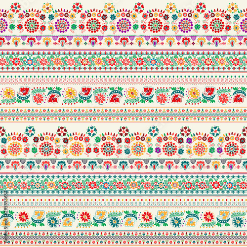Fotomural Hungarian embroidery pattern 13