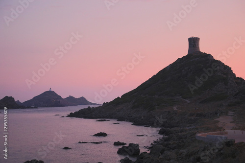 sunset on the Archipel des Sanguinaires that means Bloody Island Canvas Print