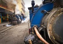 Toy Train Arriving To Darjeeli...