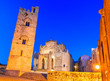 canvas print picture - Erice, Sicily, Italy: Duomo dell'Assunta or Chiesa Madre main church of the medieval city Erice