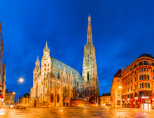 Vienna, Austria, Europe: St. Stephen's Cathedral Or Stephansdom, Stephansplatz