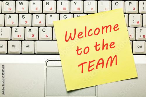 Fotografie, Obraz Welcome To The Team Concept