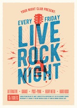 Live Rock Music Night Party Pr...