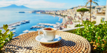 Cup Of Coffee With View On Ves...