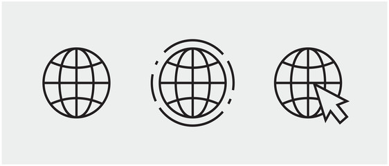 www, internet connection icons. vector illustration, logo web template.