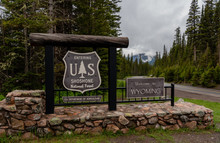 Wyoming Welcome Sign At Shoshone National Forest