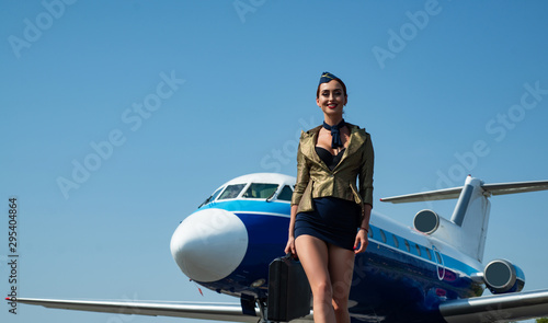 Photo Stewardess and travel time