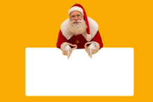 Happy Santa Claus Looking Out ...
