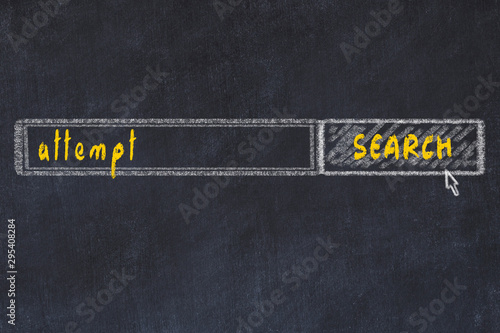 Photo Chalkboard drawing of search browser window and inscription attempt