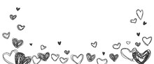 Line Drawing Heart Shape On Wh...