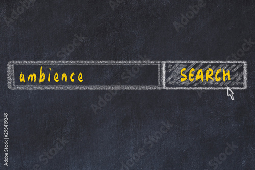 Photo Chalkboard drawing of search browser window and inscription ambience