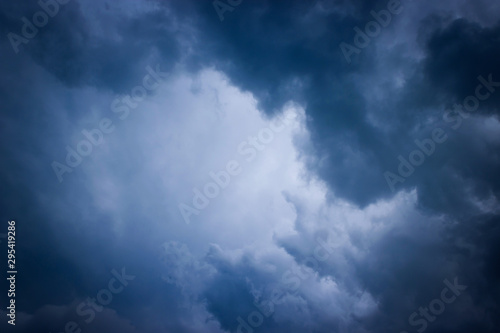 Halloween night sky and cloudy with moonlight background. - 295419286