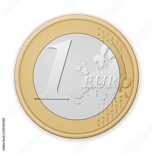 Fotomural One euro coin
