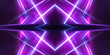 canvas print picture - Empty stage background in purple color, spotlights, neon rays. Abstract background of neon lines and rays. Abstract background with lines and glow. Empty stage the reflection of neon lights