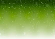 Green Xmas Winter Background W...