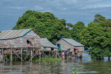 Flaoting Village Along The Tonle Sap, Cambodia