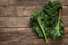 Fresh Green Organic Kale Leaves