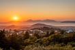 Beautiful Zia sunset view at island Kos Greece
