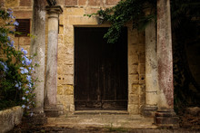 A Wooden Door Of An Old Abando...