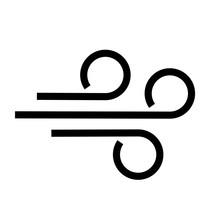 Wind Blow Vector Icon