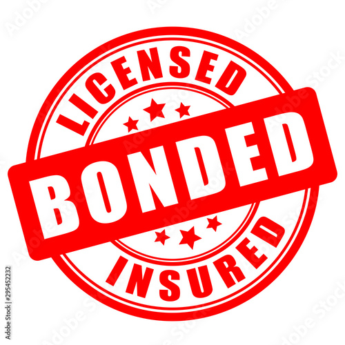 Licensed bonded insured round seal Wallpaper Mural