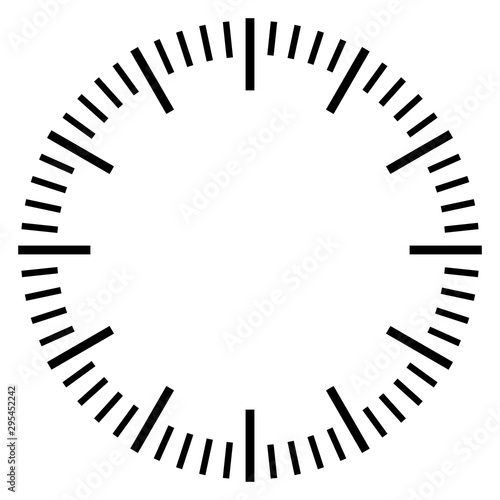Fotomural  Stop watch dial face template
